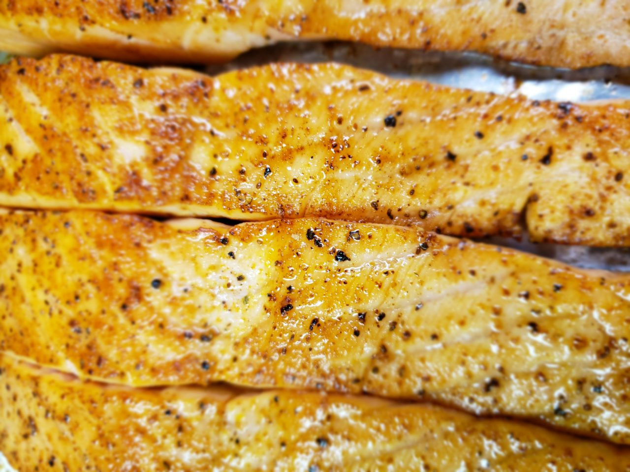 Salmon grilled to perfection